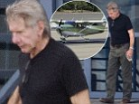 Back on TWO feet! Harrison Ford walks unaided for the first time as he heads out in his plane following ankle injury on Star Wars set
