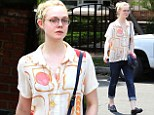 Elle Fanning goes for lunch at Aroma restaurant in Studio City