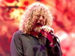 "Robert Plant of Led Zeppelin1 perform on stage during the Led Zeppelin Tribute To Ahmet Ertegun concert, held at the O2 Arena on December 10, 2007 in London, England.    (Photo by Ross Halfin/Getty Images)   ""Please note this image forms part of the Getty Premium Access agreement and may incur an additional fee. If reused it must be downloaded from the Getty site"""
