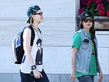 Gal pals: Evan Rachel Wood and Ellen Page, who are in the midst of filming sci fi drama Into The Forest grabbed lunch together in Vancouver on Sunday