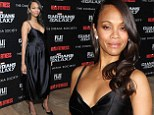 Pregnant Zoe Saldana takes the plunge in maternity LBD for Guardians of the Galaxy screening in NYC