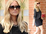 Mum on a mission! Kristin Cavallari reveals impossibly toned legs in LBD... two months after the birth of son Jaxon