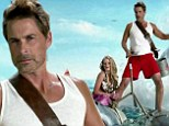 'So sharky!' Rob Lowe flexes his biceps at 50 for fish feeding frenzy in Shark Week promo