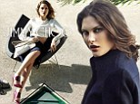Drop dead gorgeous! Catherine McNeil forgoes her usual gungy-chic look for a sophisticated makeover in Jimmy Choo's Fall 2014 campaign