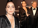 Call her irresponsible! Bra-less Lady Gaga accompanies Tony Bennett in black dress featuring a plunging neckline to Cheek To Cheek performance