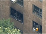 Scene: Willy Wilcox is believed to have fled the burning apartment building (pictured), leaving behind his three terrified grandchildren - Darian, eight, Tremaine, five, and Trevele, four
