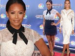 Lace wins the race! Mel B is leggy in vintage-inspired frock as she beats Heidi Klum in style wars on America's Got Talent red carpet