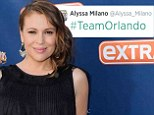 Taking sides: Alyssa Milano, shown in June in Los Angeles, showed her favoritism toward Orlando Bloom in a tweet following his dust-up with Justin Bieber in Spain