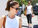 Friday Night Lights star Minka Kelly heads to the gym for a morning workout in Los Angeles