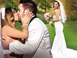 'My fairy-tale ending!' Vanderpump Rules' Scheana Marie dons unique two-piece gown to wed Michael Shay in $100k extravaganza