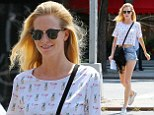 Little Miss Sunshine: Poppy Delevingne shows off her sunkissed skin as she steps out in New York City