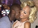 Loved up: Floyd Mayweather Jnr's girlfriend Doralie Medina posted this picture of the couple on Instagram