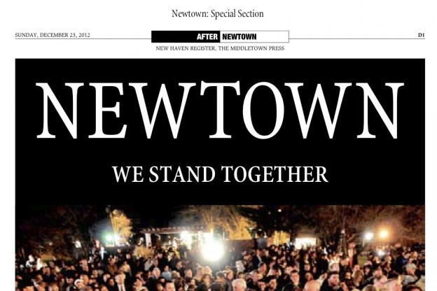 One product of Digital First Media's collaborative coverage of the Sandy Hook massacre was a 12-page special commemorative section featuring contributions from journalists across the country.
