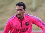Honour: Busquets (left) spoke of his pride at being handed the No 5 jersey