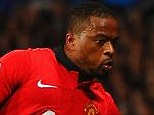 Red leader: Patrie Evra claims that Louis van Gaal wanted to hand him the Manchester United captaincy