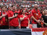 Strong support: Premier League outfit Manchester United have a strong following in America