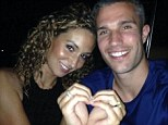 All smiles: Robin van Persie looks in jubilant mood during his holiday with wife Bouchra