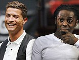 Partners: Cristiano Ronaldo is set to join up with Lil Wayne to market himself in America
