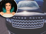 'Just got this little beauty!' Kylie Jenner, 16, shares photo of her brand new Range Rover ...after having a Mercedes SUV for one year