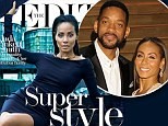 Happily married: Jada Pinkett Smith gushed to Net-a-Porter's The Edit about her marriage to Will Smith, saying she is 'ecstatic' about how it's evolved