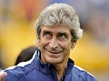 Not done yet: Manuel Pellegrini confirmed that Manchester City's £32m move for Porto defender Eliaquim Mangala was not '100 per cent' completed