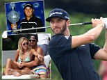 Issues: Dustin Johnson (right) has announced his decision to take a break from golf with immediate effect