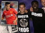 Looking good? Philippe Coutinho wears a £270 shirt during Liverpool's night out on their pre-season tour