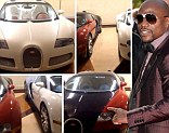 New wheels: Mayweather posted a video clip showing his three Bugattis