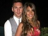 Embrace: Lionel Messi (left) and girlfriend Antonella Roccuzzo (right) on holiday on Italian island of Capri