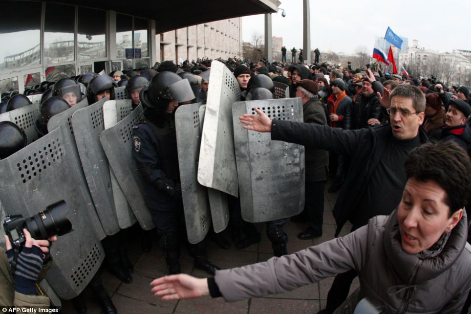 Action: The Organization for Security and Co-operation in Europe (OSCE) said today that it was sending a mission of 35 military observers to Ukraine