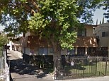 Scene: A man shot and killed his common law wife in front of seven children and then turned the gun on himself at this address  in Panaroma City, Los Angeles, on Friday night, police said