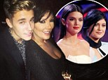 'Who's your daddy?' Justin Bieber, 20, spoons Kris Jenner, 58, and jokes he's the father of her teen daughters Kendall & Kylie in Ibiza