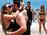 'So in love!' Bikini-clad Scheana Marie shares a passionate kiss with new husband Michael Shay during honeymoon in Maui