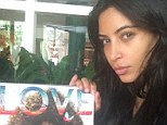 'Love!' Kim Kardashian goes make-up free to give sister Kendall Jenner praise for her latest magazine cover