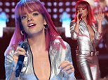 Stealing Miley's spotlight? Lily Allen takes the plunge in skintight silver jumpsuit while opening for Cyrus' Bangerz Tour