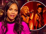 Zoe Saldana defends her Crossroads co-star Britney Spears' singing...calls her 'humble' and praises her 'good energy'