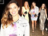 She's not missing LA! Kelly Brook flashes pins in floral bodycon dress as she meets up with pals in Manchester with fiance David McIntosh