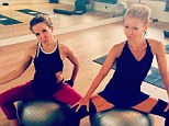 'Little girls big balls': Kelly Ripa shares provocative photo with legs split on workout prop for second Instagram post
