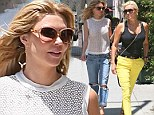 Retail therapy: Brandi Glanville and Yolanda Foster embarked upon a high end shopping trip in Beverly Hills on Friday