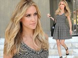 Kristin Cavallari shows off her small waist and slender legs in printed minidress ...12 weeks after giving birth to her son
