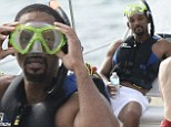 Will Smith enjoys snorkeling during a mini break in Barbados