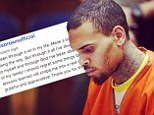 'I've made a lot of mistakes': Chris Brown expresses regret in reflective Instagram post but says the 'lessons learned' will make him a 'real man'