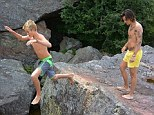 'Walkin on air!' Harry Styles took a break from his One Direction Where We Are Tour to cliff dive in Canada with Cindy Crawford's 15-year-old son Presley