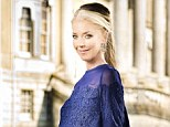 All change: Tamara Beckwith shows off her pregnancy bump and reveals she is due to give birth to a son in February
