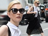 Cate Blanchett out for a walk in Midtown Manhattan