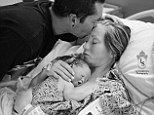 Heartbreaking: Emily and Richard Staley with their daughter Monroe Faith Staley