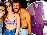 'Be happy and healthy!' Lindsay Lohan puts her slender figure on display by sharing two new bikini photos