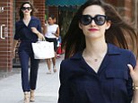 You wouldn't catch Fiona in that! Shameless star Emmy Rossum wows in navy jumpsuit and nude heels as she shops in LA
