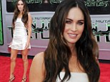 White hot! Megan Fox shows off her toned legs in daringly short mini dress at Teenage Mutant Nina Turtles LA premiere