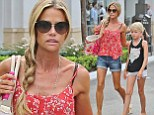 Short shorts thrift! Denise Richards wears a skimpy pair of denim hotpants as she takes daughters bargain hunting in Los Angeles